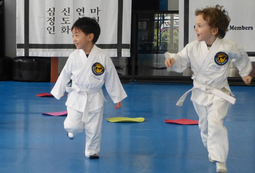 Our martial arts classes for preschoolers are packed with fun and high energy